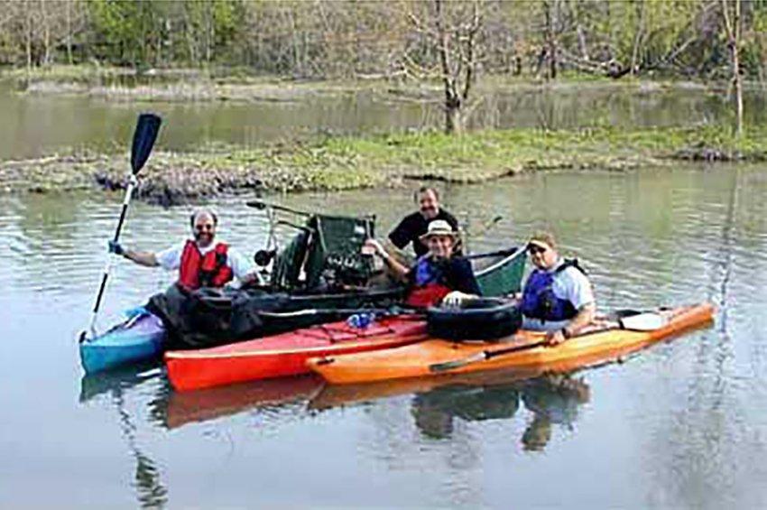 Padillacs collect litter at White Rock Lake Park